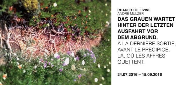 Charlotte Livine & André Mulzer: Das Grauen wartet hinter der letzten Ausfahrt vor dem Agrund. À la dernière sortie, avant le précipice,  là, où les affres guettent.