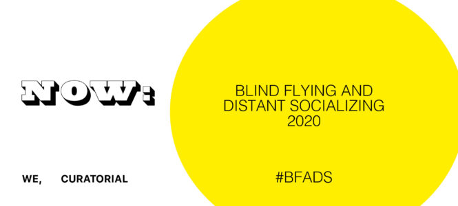 blind flying and distant socializing 2020